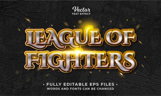 Vechtspel teksteffect bewerkbare eps cc