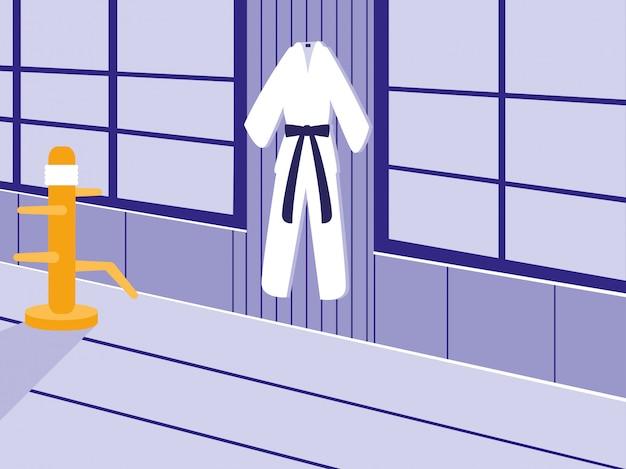 Vechtsporten dojo scene