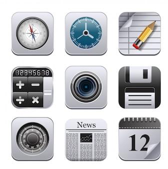 Vecotr set met gedetailleerde apps.