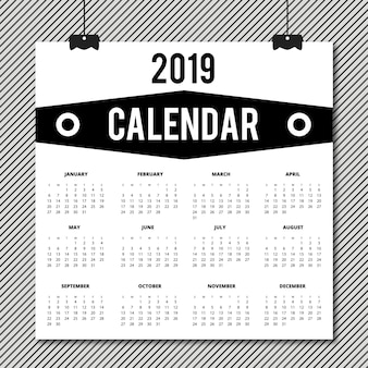 Vector 2019 kalenderontwerp
