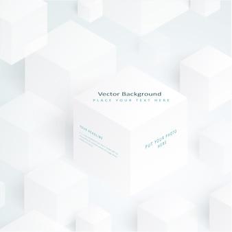 Vector 3d illustratie witte blokjes