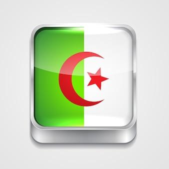 Vector 3d-stijl vlag pictogram van algerije