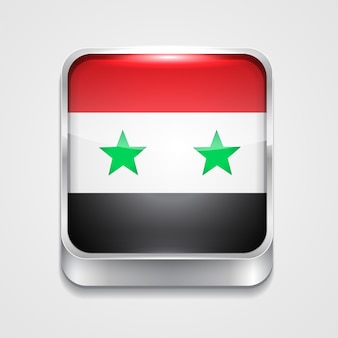 Vector 3d-stijl vlag pictogram van syrië