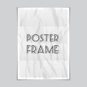 Vector a4-vel papier met schaduwen, poster mockup