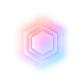Vector abstract 3d hexagonaal.