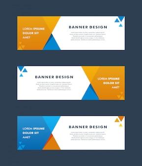 Vector abstract geometrisch ontwerp banner websjabloon. - vector