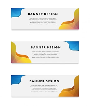 Vector abstract geometrisch ontwerp banner websjabloon. - vector