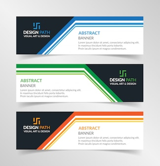 Vector abstract ontwerp moderne banner websjabloon