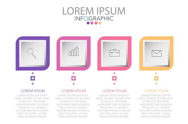 Vector abstracte 3d papieren infographic elementen