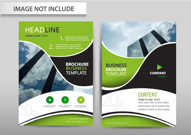 Vector abstracte achtergrond brochure flyer sjabloon a4-formaat ontwerp.