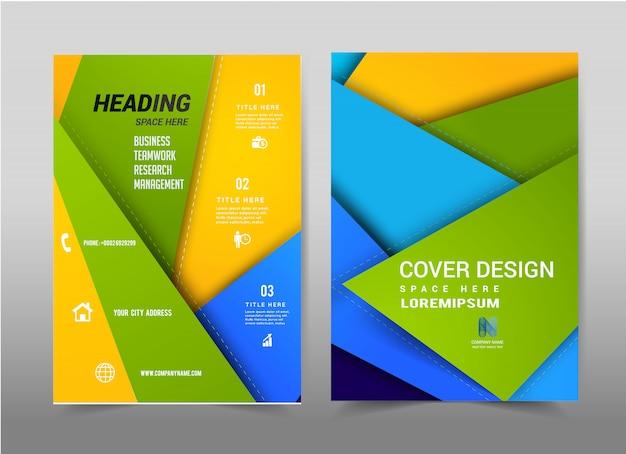 Vector abstracte achtergrond brochure flyer-sjabloon