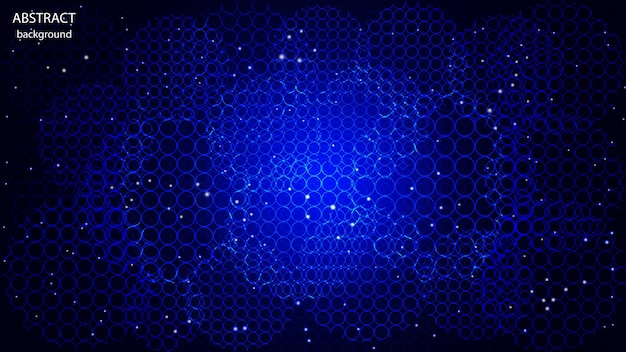 Vector abstracte achtergrond gemaakt van cirkels in neonkleur. eps 10