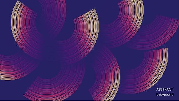 Vector abstracte achtergrond in de vorm van gekleurde ringen. eps-10.