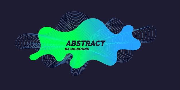 Vector abstracte achtergrond met dynamische golven en lijnen