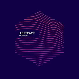 Vector abstracte achtergrond met dynamische golven. illustratie geschikt voor ontwerp