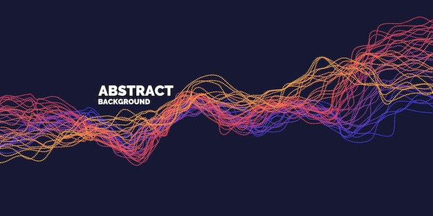 Vector abstracte achtergrond met dynamische golven, lijn en deeltjes. illustratie geschikt voor ontwerp