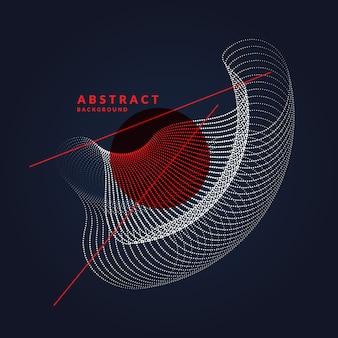 Vector abstracte achtergrond met dynamische golven