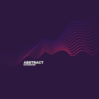 Vector abstracte achtergrond met een gekleurde dynamische golven, lijn en deeltjes. illustratie geschikt voor ontwerp Premium Vector