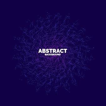 Vector abstracte achtergrond met een gekleurde gestippelde dynamische golven, lijn en deeltjes. illustratie geschikt voor ontwerp