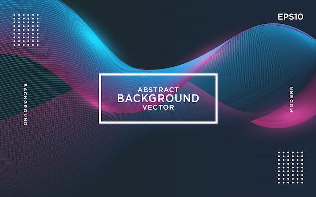 Vector abstracte achtergrond met gekleurde dynamische golven