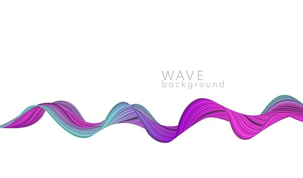 Vector abstracte achtergrond met kleur abstracte golf