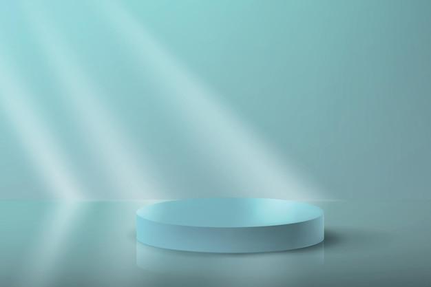 Vector abstracte achtergrond met platform in minimalistische stijl.