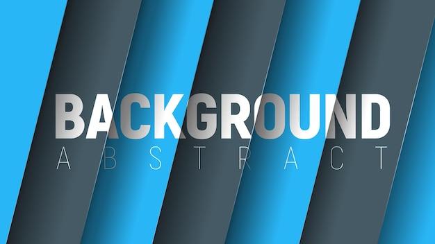 Vector abstracte achtergrond met zwarte en blauwe zwevende lagen.