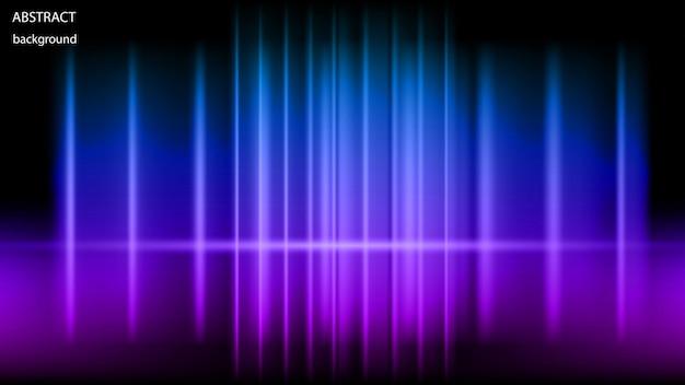 Vector abstracte achtergrond van gloeiende neonstralen. eps 10