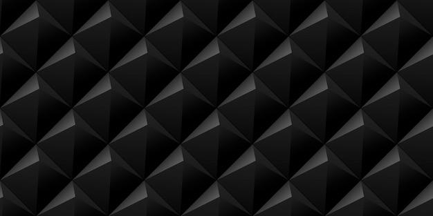 Vector abstracte betegelde naadloze achtergrond met donkere zachte verlichte piramides.