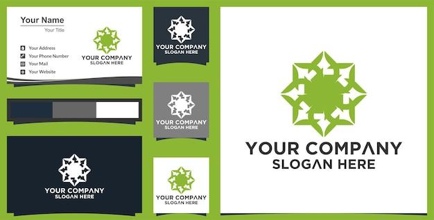 Vector abstracte blad logo ontwerpsjabloon
