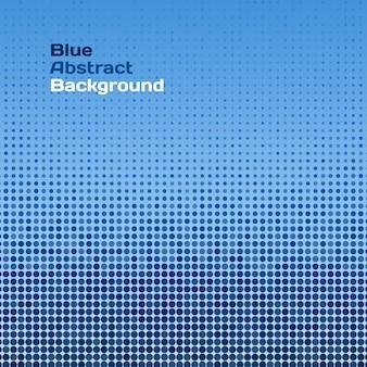 Vector abstracte blauwe raster achtergrond (patroon achtergrond, gestippelde achtergrond, vector halftone puntjes voor achtergronden)