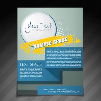 Vector abstracte brochure flyer poster sjabloon ontwerp
