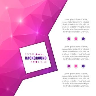 Vector abstracte creatieve achtergrond met bloktekstsjabloon