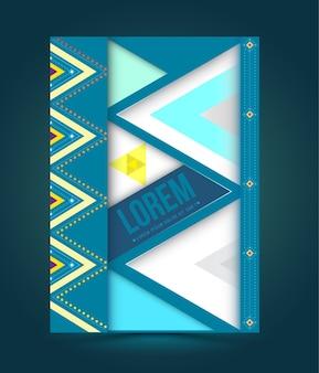 Vector abstracte dekkingsbrochure, boek, vliegerontwerpmalplaatje