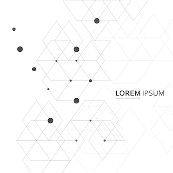 Vector abstracte geometrische achtergrond. fantasie van zeshoeken