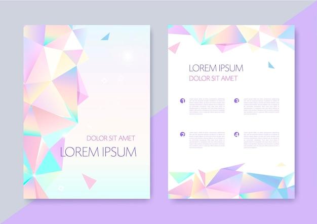 Vector abstracte geometrische grafisch ontwerp covers. origami 3d-vormen flyers, brochures, posters