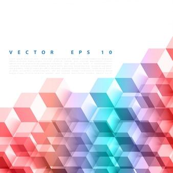 Vector abstracte geometrische vorm van grijze blokjes.