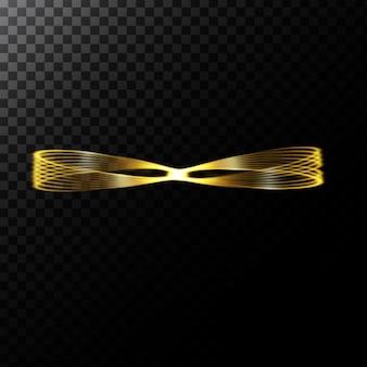 Vector abstracte illustratie van een licht effect in de vorm van een gouden cirkels