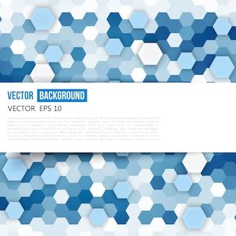 Vector abstracte kleur 3d hexagonaal.