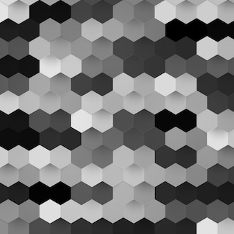 Vector abstracte kleur 3d hexagonaal.
