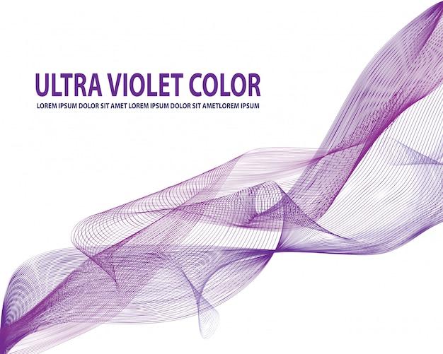 Vector abstracte kleur gebogen lijnen achtergrond: paars