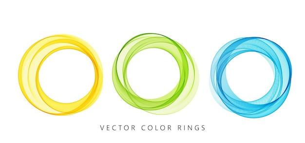 Vector abstracte kleurrijke ronde lijnen geïsoleerd op een witte achtergrond