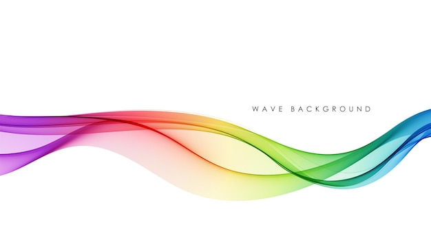 Vector abstracte kleurrijke vloeiende golflijnen die op witte achtergrond worden geïsoleerd