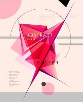 Vector abstracte kristalvorm posterm banner, brochure. futuristische achtergrond. artistiek omslagontwerp, minimalistisch creatief concept, moderne diagonaal