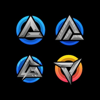 Vector abstracte letter a logo ontwerpsjabloon