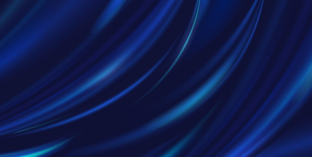 Vector abstracte luxe blauwe doek als achtergrond. zijdetextuur, vloeibare golf, golvende plooien elegant behang. realistische afbeelding satijn fluwelen materiaal