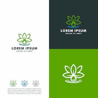 Vector abstracte marihuana olie logo sjabloon