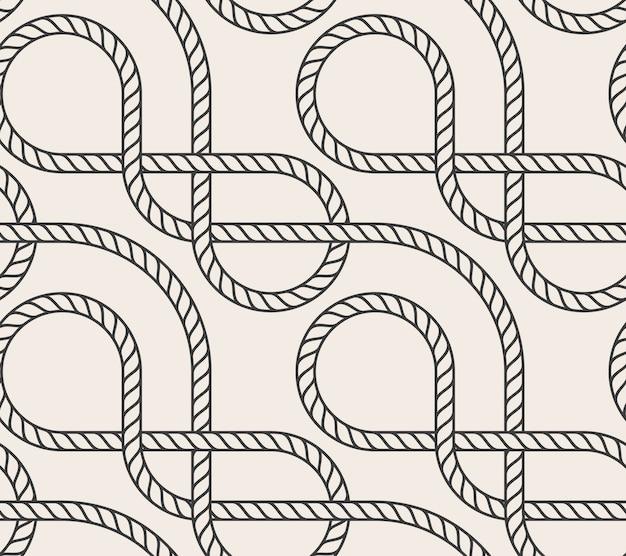 Vector abstracte naadloze touw achtergrond
