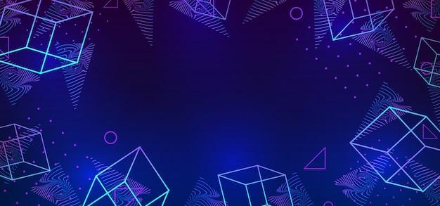 Vector abstracte trendy 80s stijl achtergrond met neo geometrische memphis