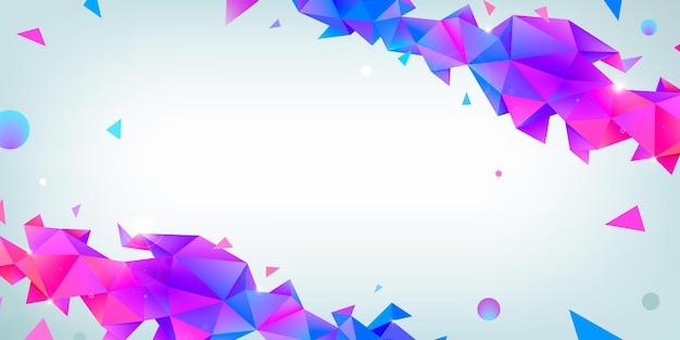 Vector abstracte veelkleurige draadframe achtergrond met plexus effect. futuristische 3d geometrische illustratie. websitekoptekst, bannerontwerp. driehoekige moderne stijl. wereldwijde netwerkverbinding.
